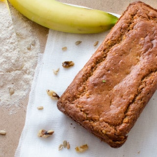 Banana bread: Low fat, whole wheat