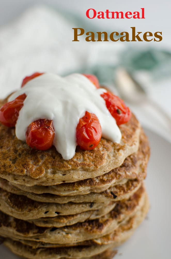 Light, fluffy and healthy oatmeal pancakes. Rich in fiber content and are ideal for sugar free morning breakfasts.