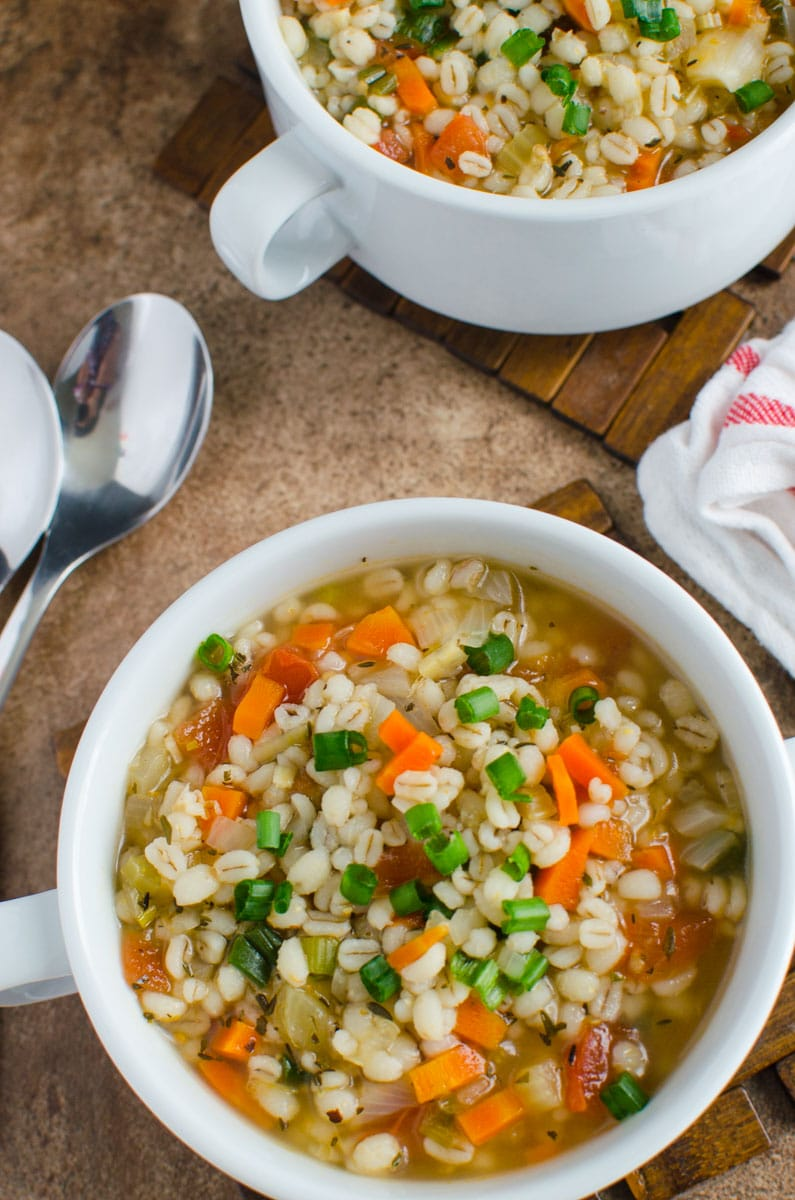 homemade healthy barley soup recipe. Perfect option to add whole grains into diet. Ready to enjoy in about 30 mins.