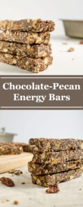 Pecan Chocolate Homemade Energy Bars