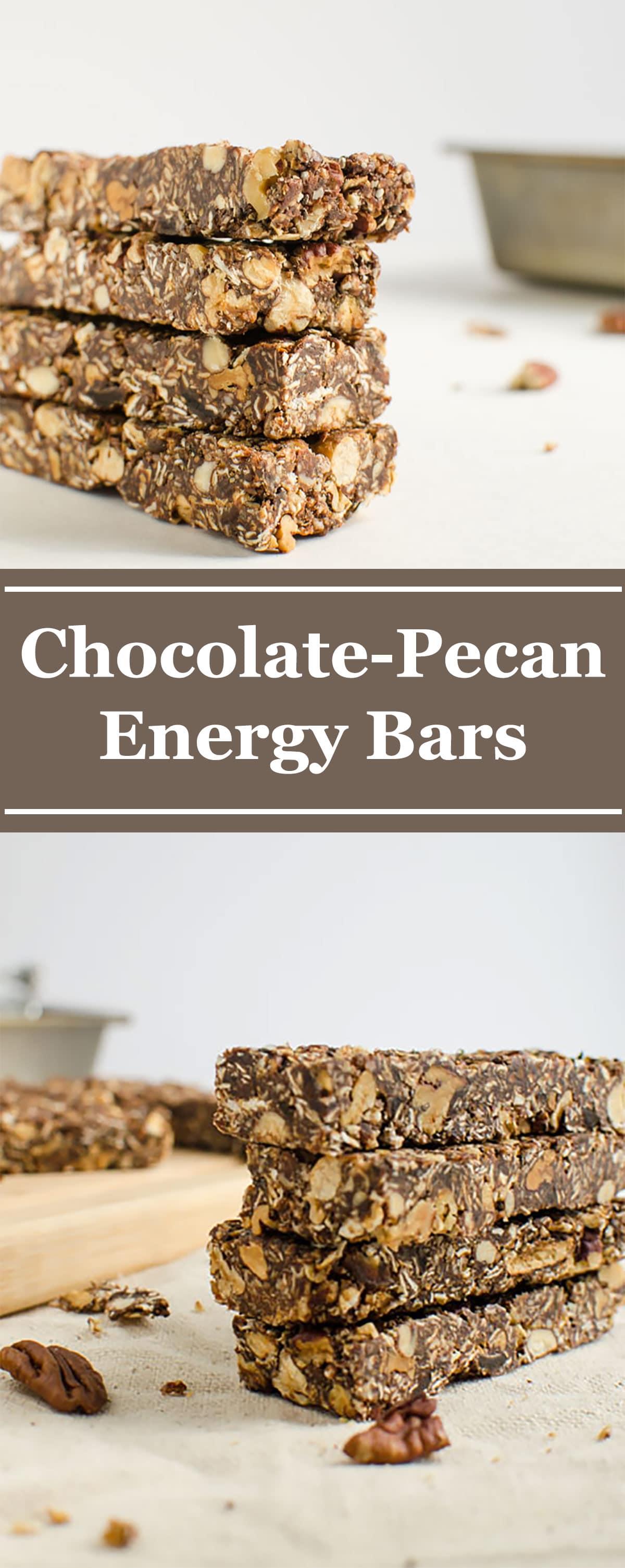 Pecan Chocolate Homemade Energy Bars
