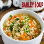 Healthy Barley Soup in serving bowl