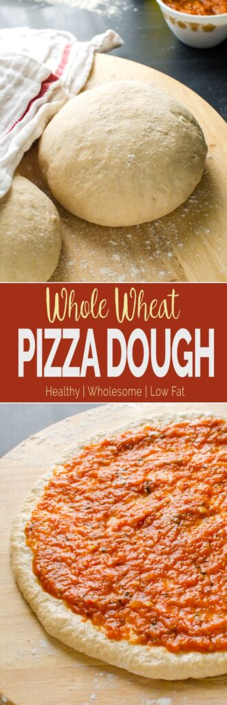 Homemade whole wheat pizza dough for making delicious pizzas.