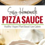 Easy homemade pizza sauce -- full of fresh flavors and taste. You will never want to go for the store brought one. | watchwhatueat.com