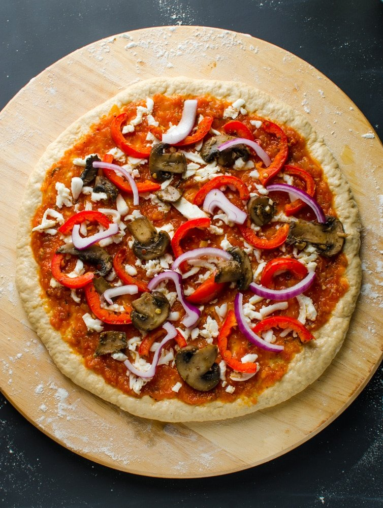 healthy pizza topping