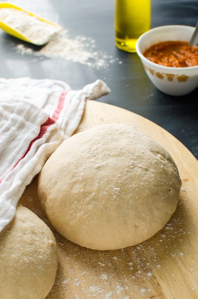 Homemade whole wheat pizza dough recipe