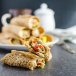 Learn to make oatmeal pancake roll-ups. These pancake egg roll-ups are sugar free & loaded with protein, fibers & nutrients from fresh veggies.
