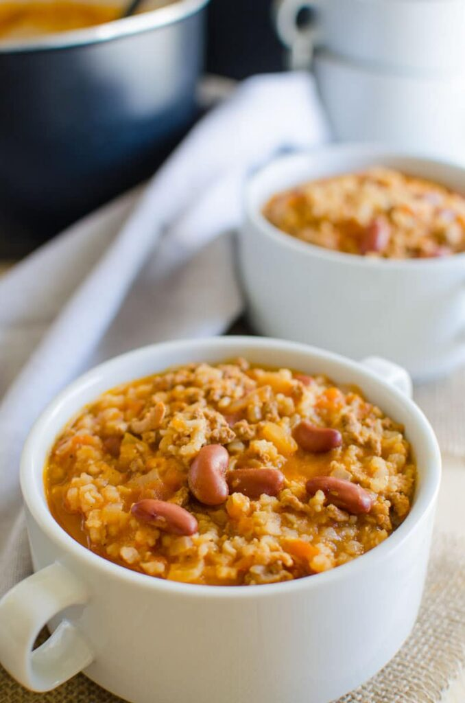 Healthy and easy turkey chili with full of traditional flavors. Prepared using all healthy ingredients.