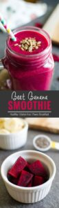 Try this 5-min vibrant pink beet banana smoothie to fall in love with raw beets.