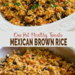 This one pot Mexican brown rice with tomatoes is an easy, healthy and vegetarian option for any weeknight meals. | #watchwhatueat #healthyrecipe #brownrice #Mexican #onepot