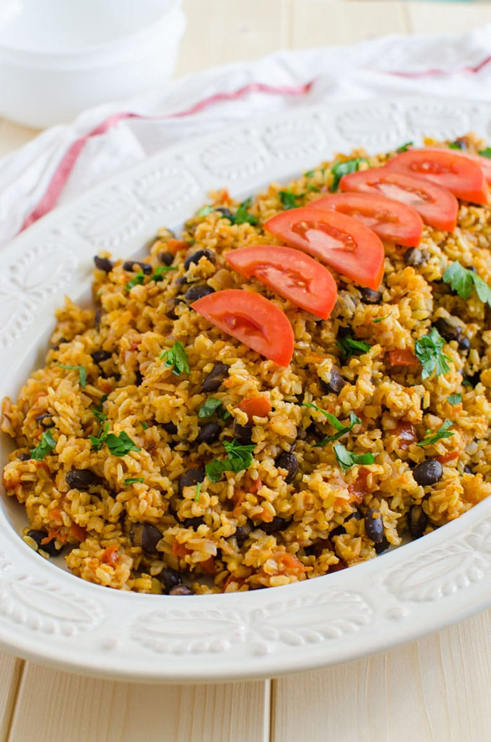 One pot Mexican brown rice, a healthy and filling option for any weeknight dinners