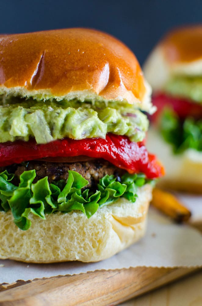 Healthy black bean veggie burger