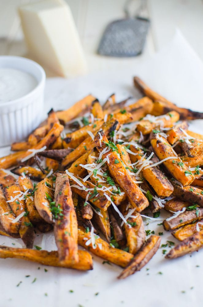 Homemade sweet potato french fries