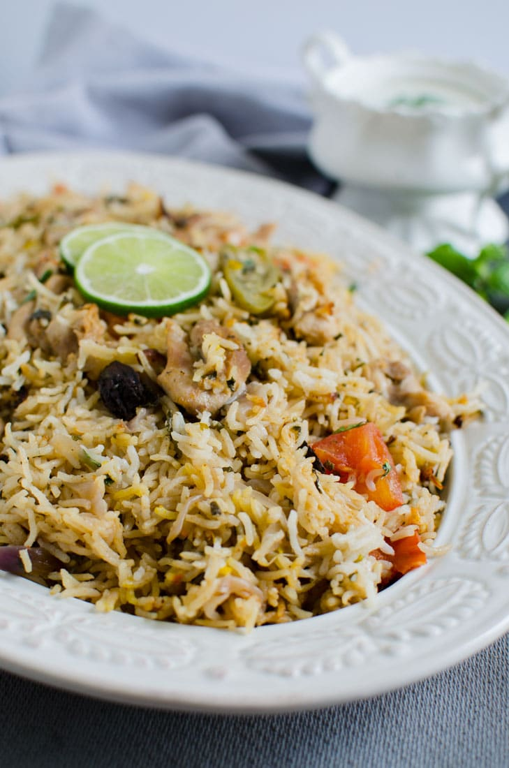 Easiest one pot chicken biryani