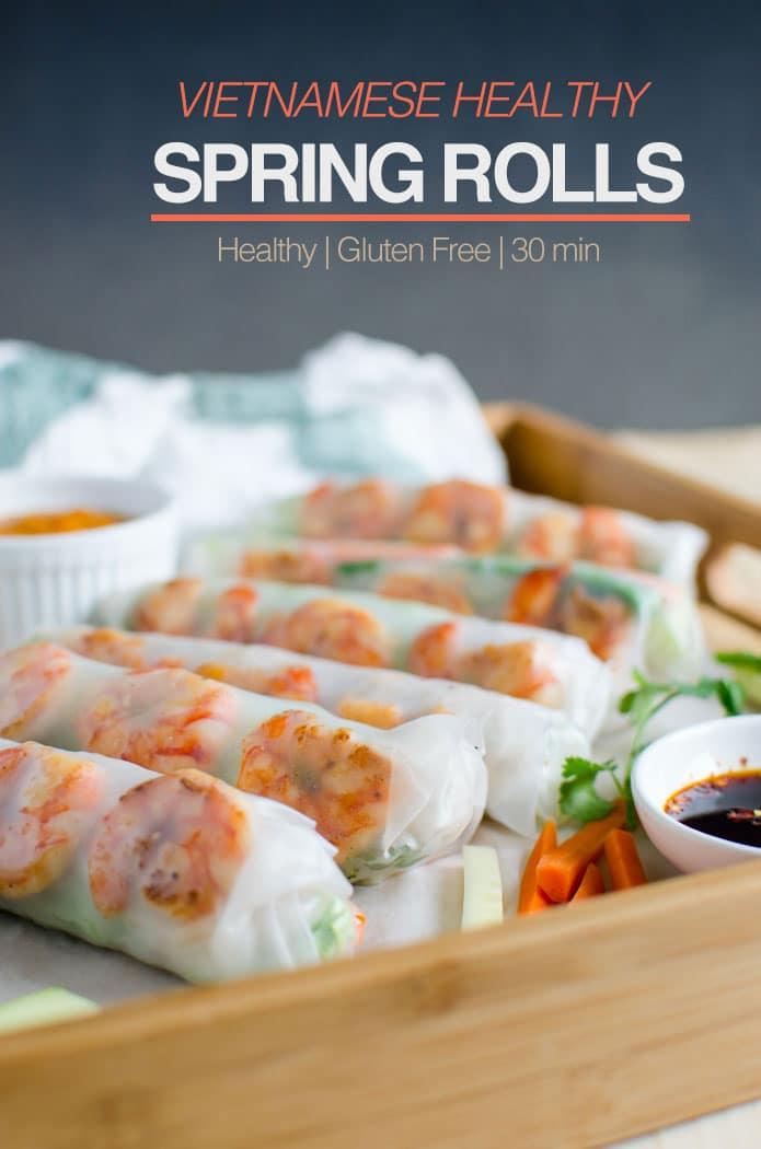 Vietnamese Healthy Spring Rolls Watch What U Eat
