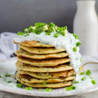 Mung Bean Oatmeal Protein Pancakes