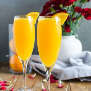 Non alcoholic the best mimosa recipe | watchwhatueat.com
