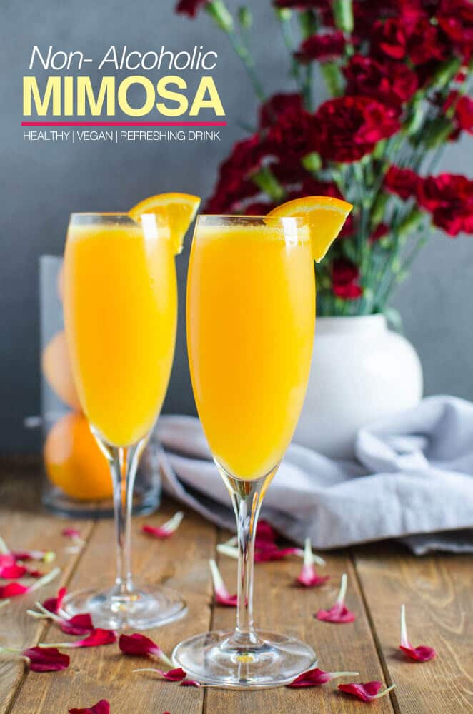 Best Mimosa Recipe - An amazing brunch mocktail for alcohol free drink | watchwhatueat.com