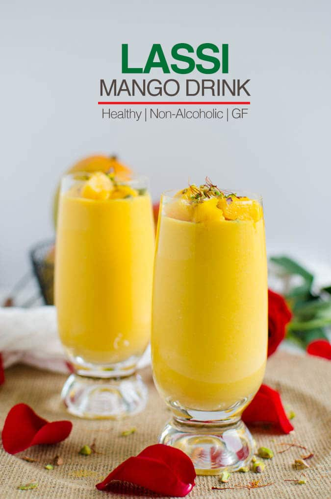 This lightened recipe for mango lassi is so easy to prepare and perfect to enjoy seasonal fresh mangoes | watchwhatueat.com