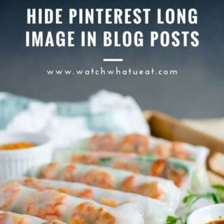 How to Hide Long Image For Pinterest In Blog Post