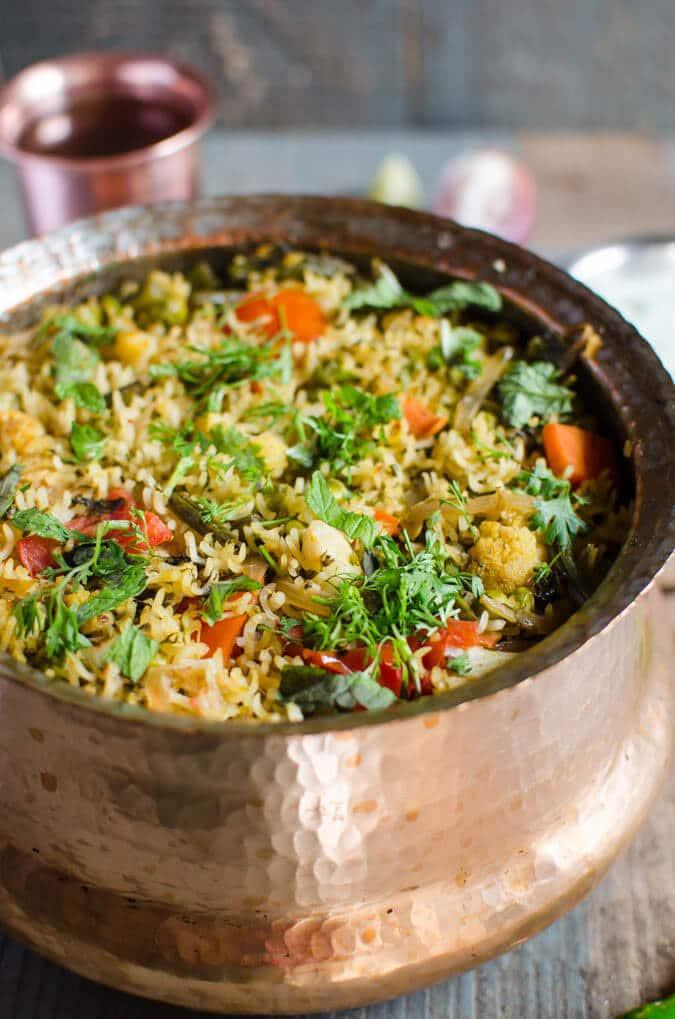 One pot veg biryani healthy vegan gf watch what u eat one pot easy vegetable biryani healthy and nutritious watchwhatueat forumfinder Images