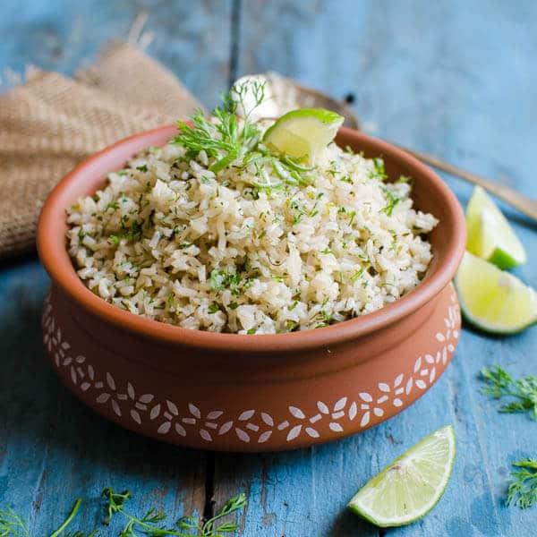 Cilantro Lime Brown Rice | Vegan & Gluten Free