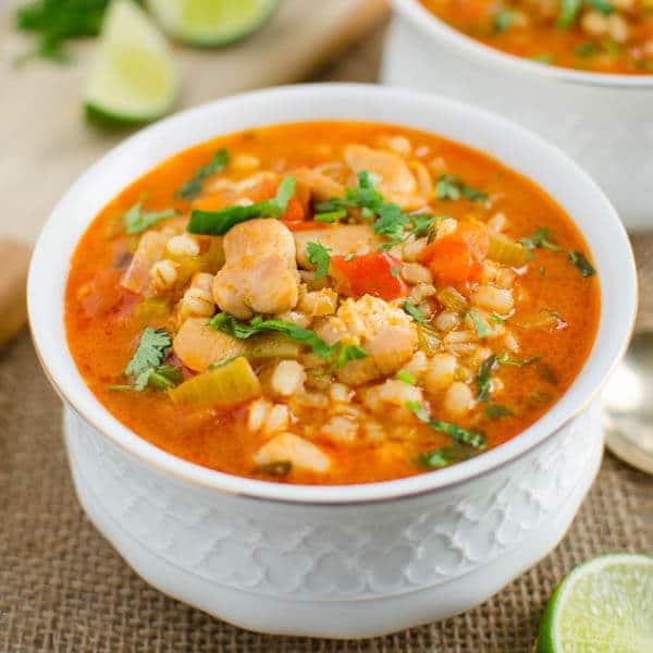 Hearty Healthy Chicken Barley soup