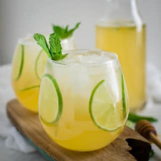 Sparkling Fresh Honey Homemade Limeade