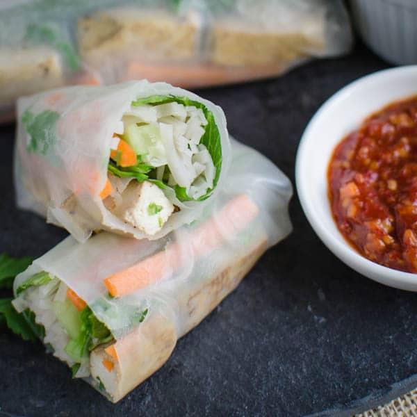 Delicious Nutritious Vietnamese Vegan Spring Rolls