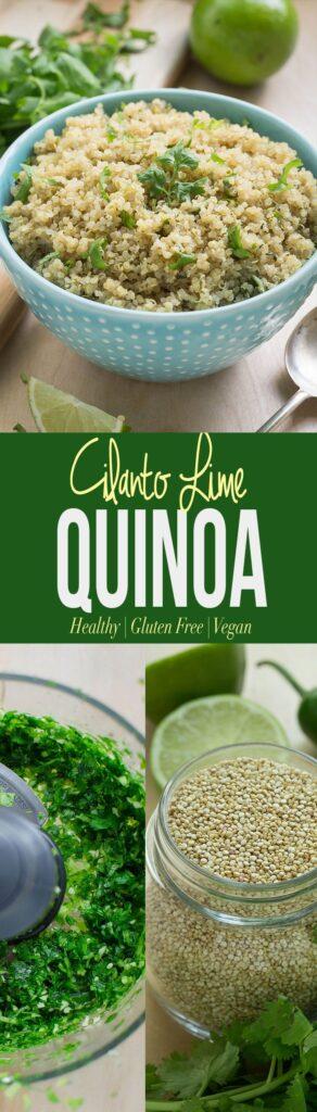 Cilantro Lime Quinoa - a perfect alternative to traditional cilantro lime rice | gluten-free and vegan side dish