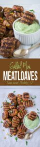 Southwest flavored grilled mini meatloaves are perfect lean meat healthy appetizers for summer parties or potlucks | turkey meatloaves, gluten free