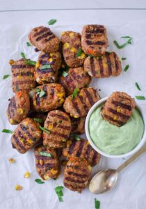 Grilled mini meatloaves are perfect southwest flavored healthy appetizers for potlucks and summer barbecue parties