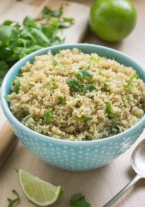 Cilantro Lime Quinoa - a perfect healthy side dish that can be served with a number of Mexican dishes | Gluten Free, Vegan