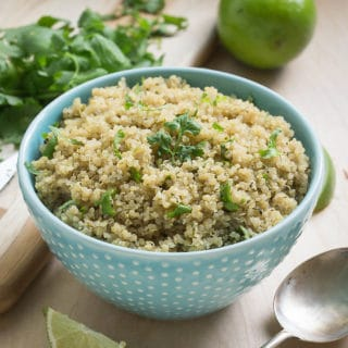Super simple cilantro lime quinoa to pair with your favorite Mexican dishes