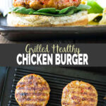 Grilled Chicken Burger - ground chicken patties are grilled to perfection and sandwiched between multigrain rolls with fresh avocado and salsa. Easy and healthy burger recipe for the outdoor barbecue parties. | #watchwhatueat #chickenburger #healthyburger #grilledburger #grilledrecipes