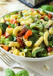 Stir fry veggie pasta salad - a healthy wholesome lunch or dinner. A perfect healthy pasta salad for potluck or picnics