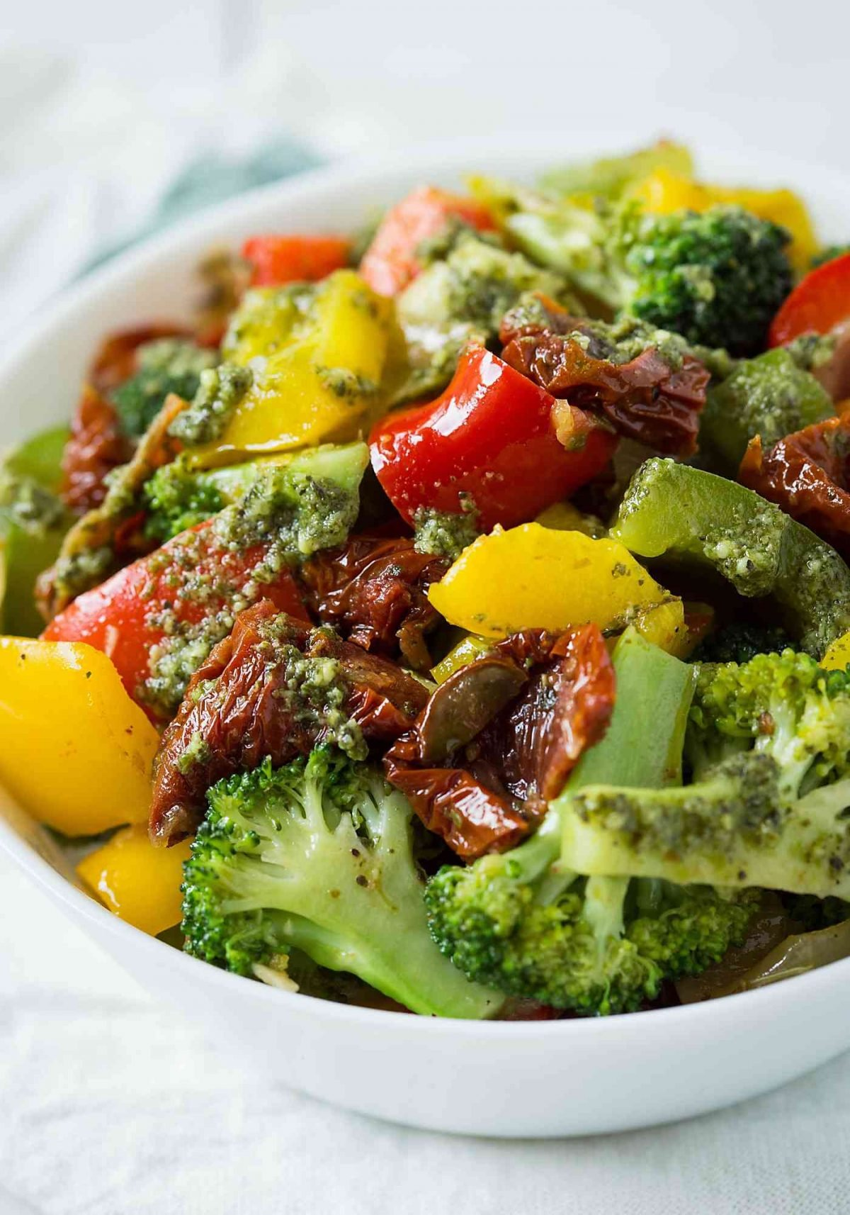 This stir-fry veggies get ready in no time. Serve as a side to pasta or rice dishes for a complete wholesome meal.
