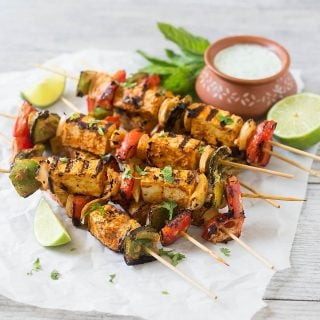 Grilled Tofu Tikka Skewers (Or Paneer Tikka)