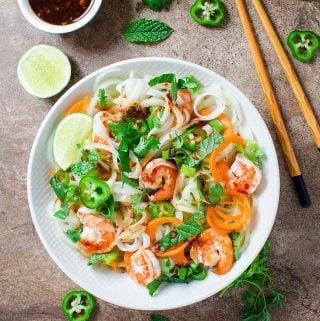Vietnamese Summer Rolls Salad Bowl