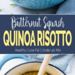 Roasted Butternut Squash Risotto Recipe | This risotto is prepared using quinoa & fresh roasted mashed butternut squash. A flavorful & delicious meal to serve as a side or a main dish. #butternutsquash #risotto