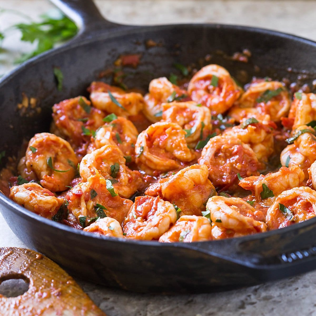 15 Minute Easy Garlic Shrimp In Tomato Sauce Video