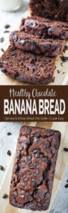 This rich yet healthy chocolate banana bread is a delicious combination of banana and chocolate. Moreover, it is free from refined sugar. | #bananabread #chocolate #bread #healthyrecipes
