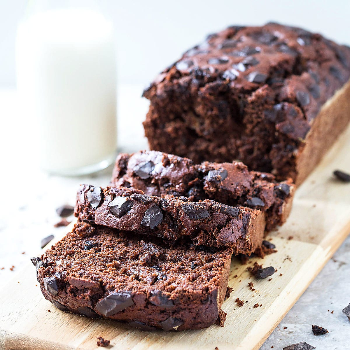 Healthy Chocolate Banana Bread | Watch What U Eat