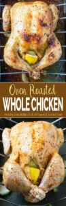Learn to make perfect super juicy garlic & herb roasted whole chicken in the oven. Quick preparation & tons of flavors with delicious gravy prepared using pan drippings.