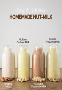 Learn to make preservative-free homemade nut milk and nut butter. Perfect to add dairy-free milk and healthy essential fats into the diet.