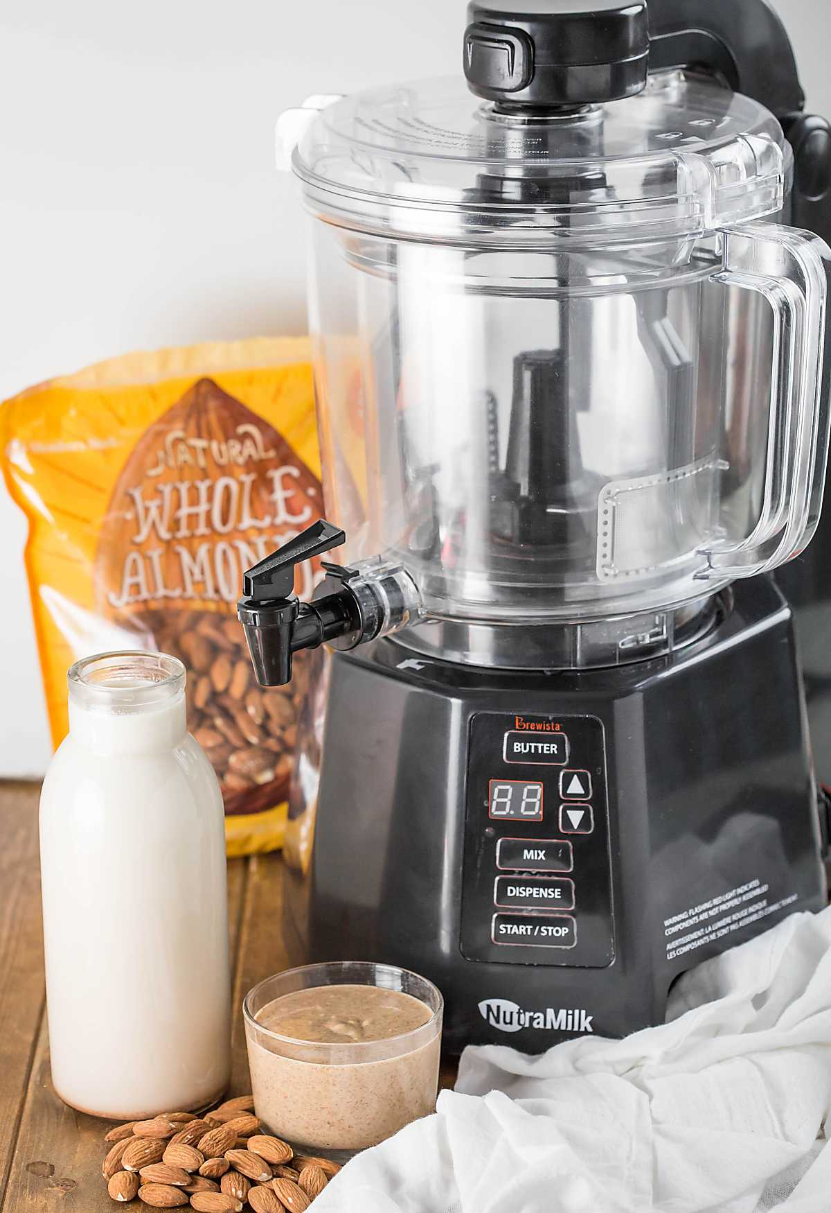 Easy homemade nut milk and nut butter using The NutraMilk