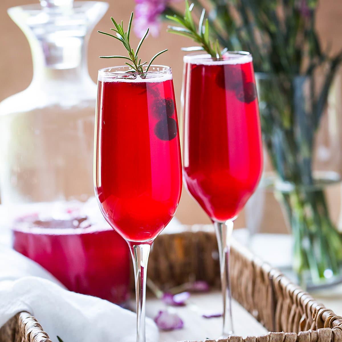 Healthy & Festive Cranberry Mimosa Recipe
