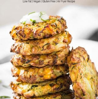 Air Fryer Healthy Zucchini Corn Fritters