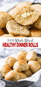 Healthy Whole Wheat Dinner Rolls - use this recipe to make easy, soft & fluffy dinner rolls at home. Add fresh garlic and herbs to give them an absolute taste. The best part is no one will ever believe that these are made from 100% whole wheat flour. | #watchwhatueat #dinnerrolls #wholewheat #wholewheatrolls #healthythanksgiving