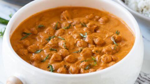 Restaurant Style Healthy Chickpea Tikka Masala | Vegetarian Tikka Masala